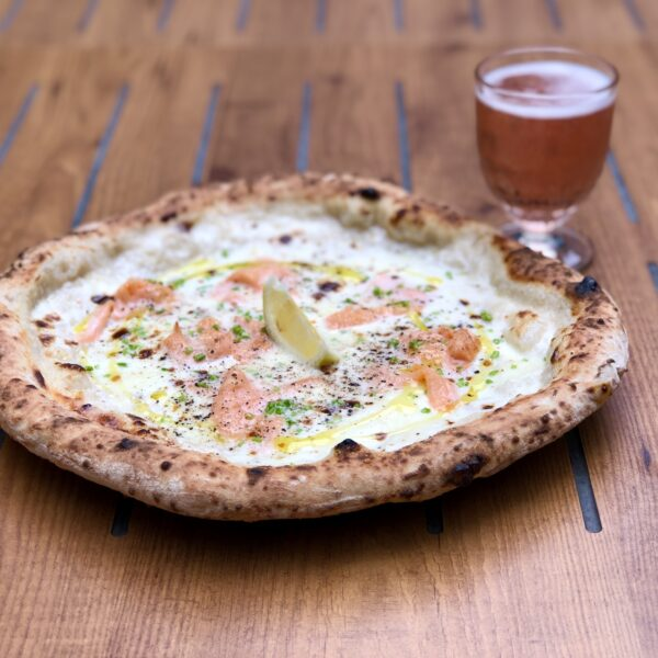 Guest Pizza Hot Smoked Salmon Mascarpone Pizza Pilgrims